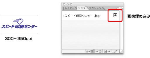 封筒入稿用データの画像埋め込み