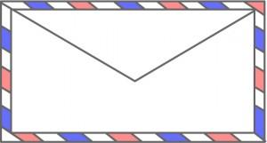 エアメール用封筒